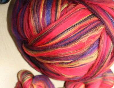 Merino Wool Top Roving Mojave Multi Color 1 Pound