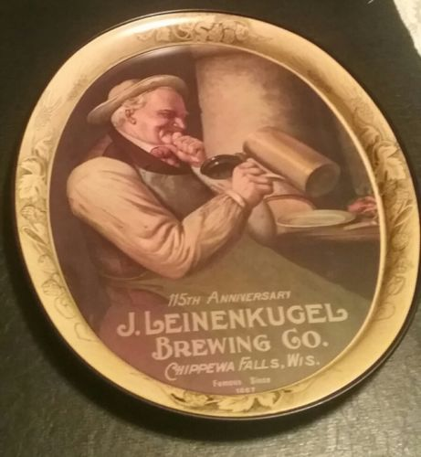 Leinenkugel Brewing Beer Tin Tray Sign Chippewa Falls