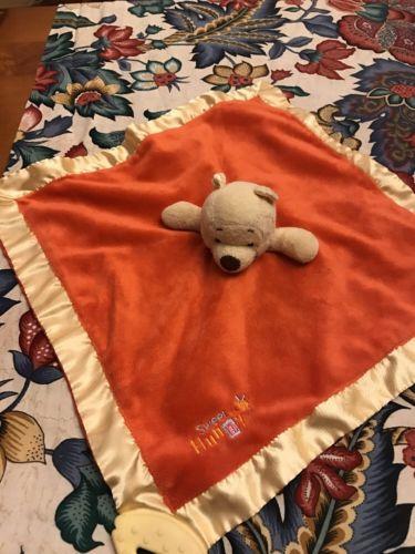 NEW Disney Winnie the Pooh LOVEY SECURITY BLANKET TEETHER Sweet as Hunny