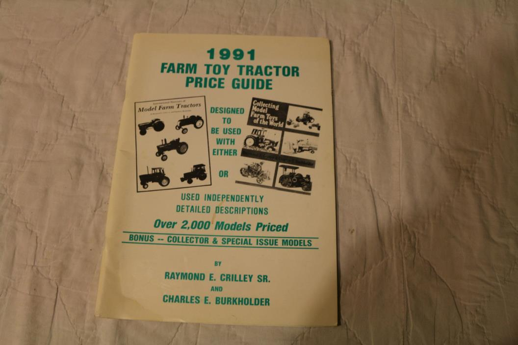Farm Toy Tractor Price Guide Books Manuals 2 to sell - 1988/89 & 1991