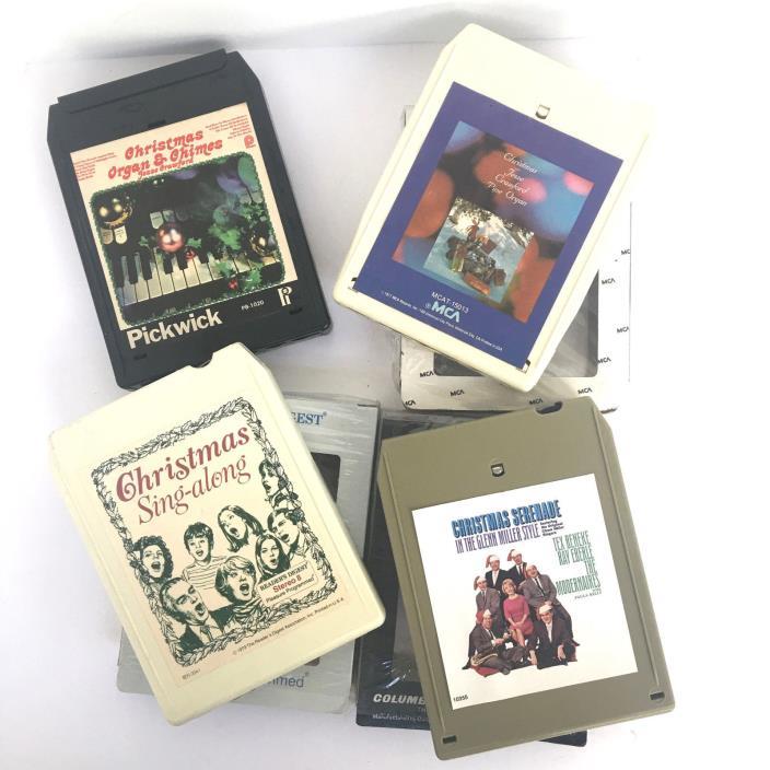 Set of 4 Christmas Glenn Miller Jesse Crawford  8 Track Cartridge Tapes