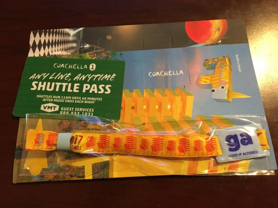 1 Coachella Music Festival - GA Pass Ticket with Shuttle - Weekend 1 - SOLD OUT