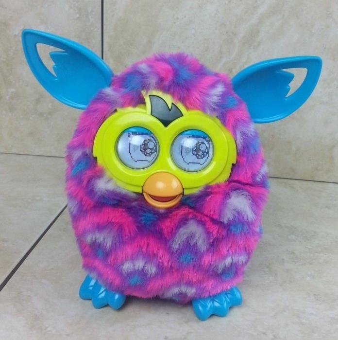 Furby Boom Hasbro 2012 Interactive Electronic Toy Pink, Purple, Aqua/Turquoise