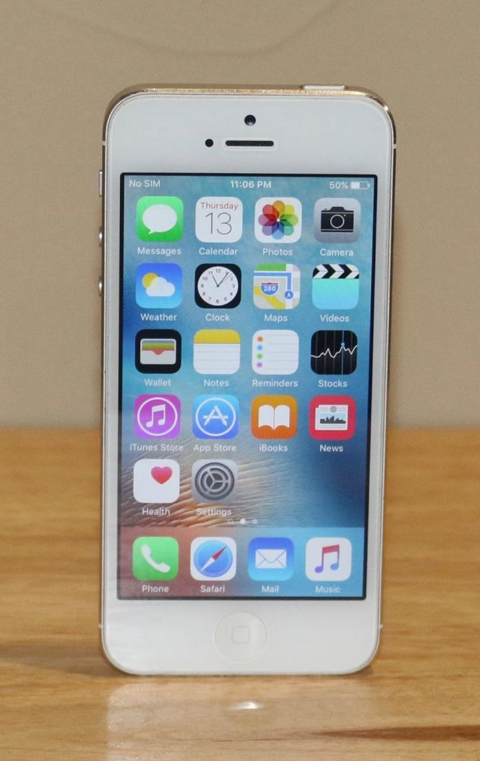 Apple iPhone 5 - 16GB - White & Silver  Smartphone - Clean ESN