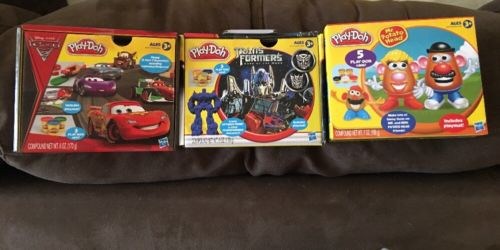 3 NEW PLAY-DOH PLAYSETS DISNEY CARS 2 - TRANSFORMERS DARK MOON - MR. POTATO HEAD