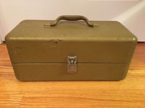 Vintage fishing tackle box full