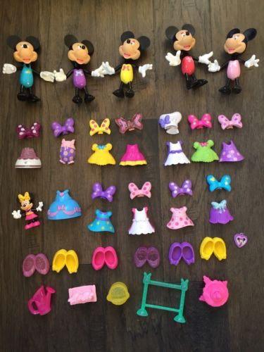 Minnie Mouse Bowtique Dolls And Outfits Toy Lot