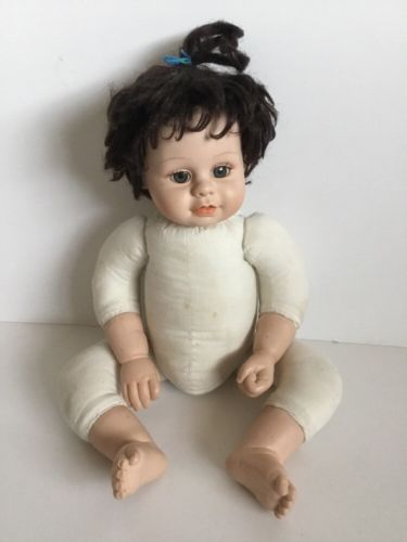 Realistic Toddler Baby Doll Retired Heritage Mint LTD Brunette Doll TLC