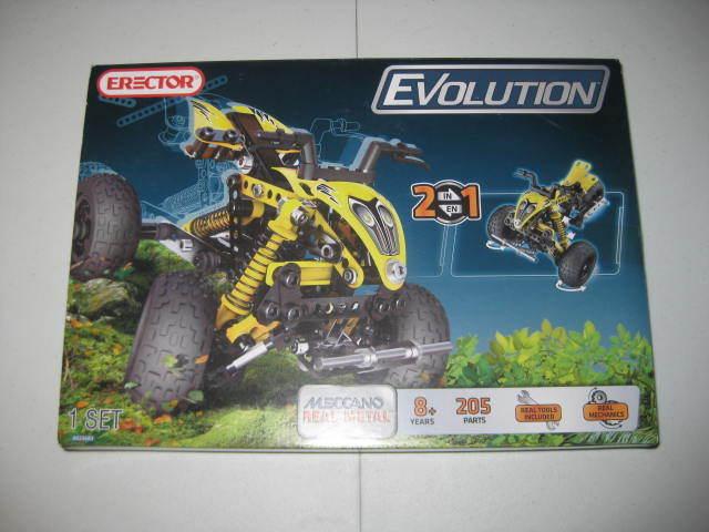 NISB Meccano Erector Set Evolution 6023683 ATV + 3-Wheeler 205 Parts