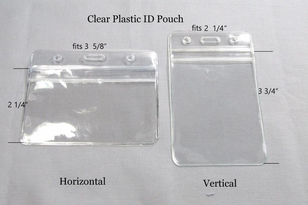 Plastic ID Sleeve Pouch ID Holder Work Badge Holder