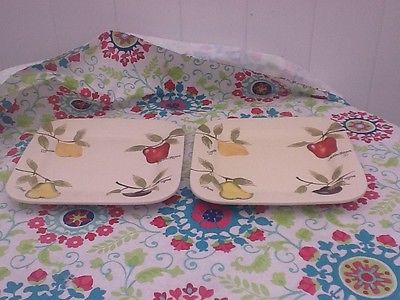 home american simplicity dishware, 2 pieces, fruit theme 11.5 inches