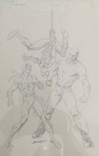 New Avengers, Original Comic Art, Marvel Comic, Mark Bagley, Cover