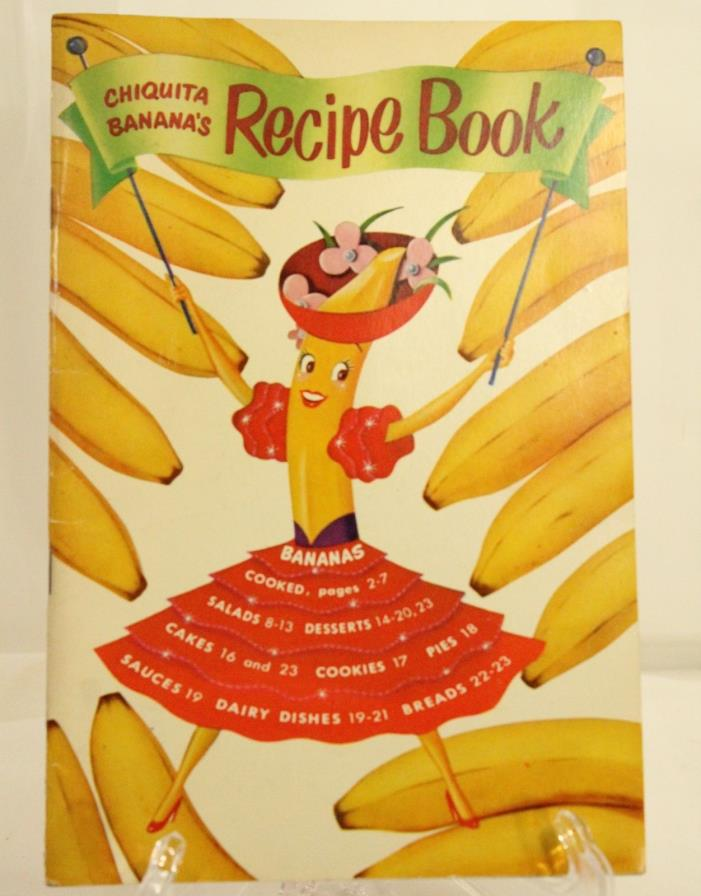 CHIQUITA BANANAS Recipe Booklet Vintage collection of recipes 1950's