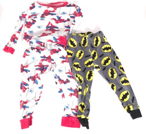 Boys Sleep Superheroes Spiderman Pj Set and Batman Pj Bottoms 3t-4t Pajamas Boys