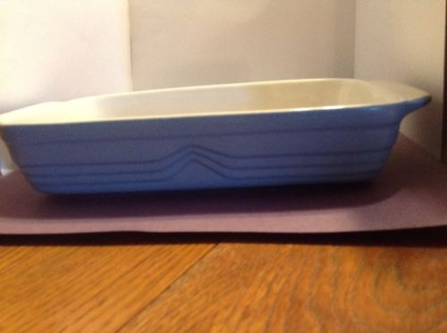 Blue Pottery Casserole Dish  Made in Brazil