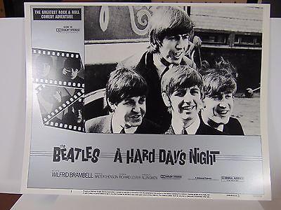 3 Lobby cards - Hard days Night - The Beatles - RR 1982