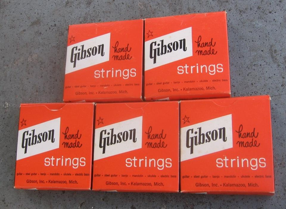 Gibson Electric Guitar Strings. Five Partially Used Packs. Vintage.