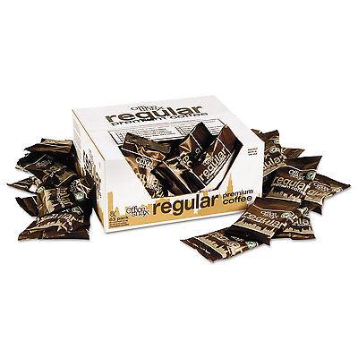 100% Pure Arabica Coffee, Original Blend, 1.5oz Packet, 63/Carton