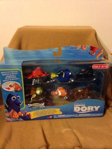 Disney Pixar FINDING DORY SWIGGLEFISH 6 Pack Target Exclusive NEW