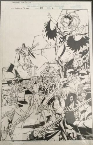 uncanny x-men, Original Comic Art,  Marvel Comics, Scott Hanna/Tom Raney