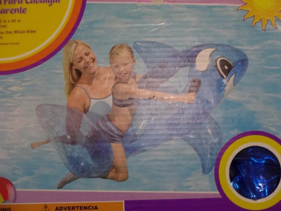 Rare Clearwater Transparent Blue Dolphin Whale Rider Inflated Sz is 62