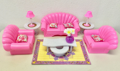 Barbie Size Dollhouse Furniture Living Room Set Doll Furniture New