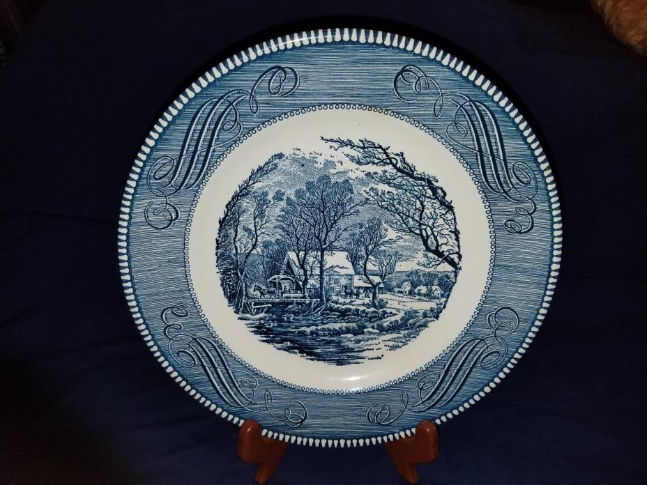 Royal China Currier & Ives The Old Grist Mill 10