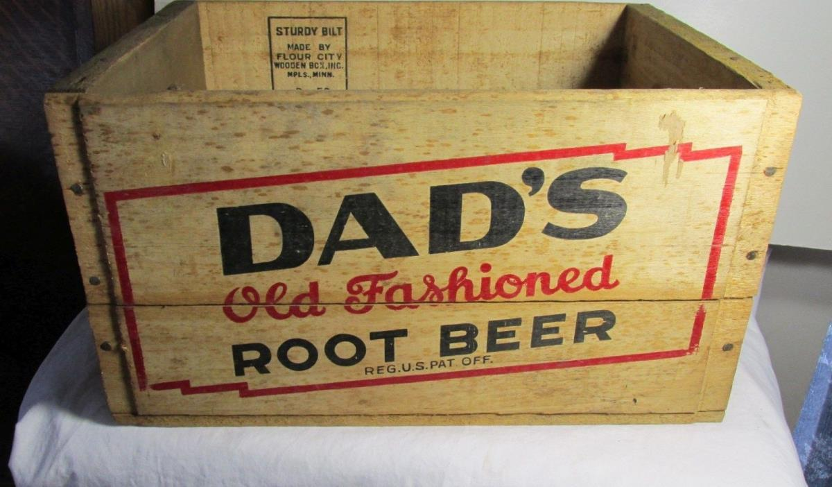 Vintage Wood Crate Dads Root Beer Crate Wooden Root Beer Crate RARE Junior size