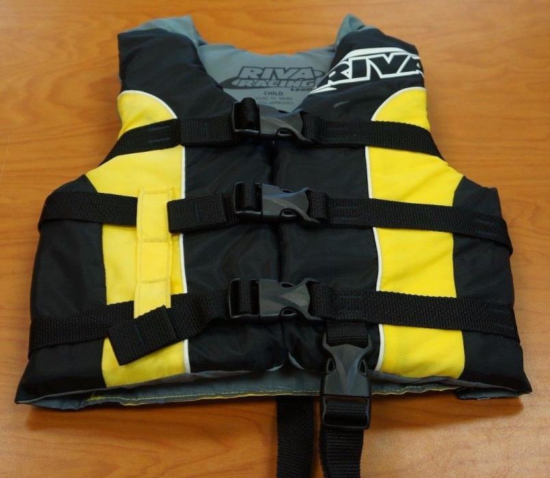 RIVA RACING CHILD 30-50 lbs LIFE JACKET PRESERVER SKI VESTS USCG approved Type 3