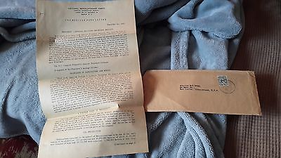 1937 MEXICAN NATIONAL REVOLUTIONARY PARTY PRES. CARDENAS LETTER TO CONGRESS