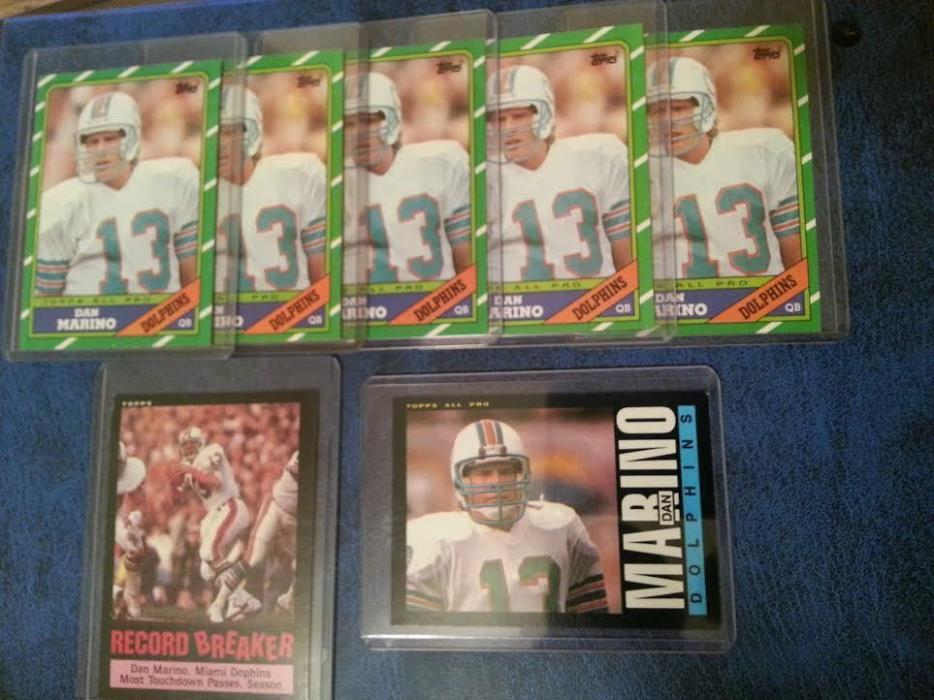 /7 Card/ Dan Marino Lot 1985 Topps x2 & 1986 Topps x5