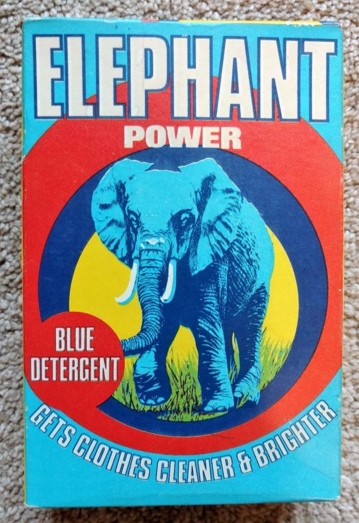 Clothes Washing Soap Advertising ELEPHANT POWER Full In Original Box
