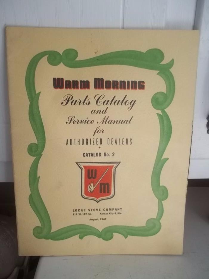 VINTAGE ADVERTISING 1947 WARM MORNING CATALOG ESTATE FIND