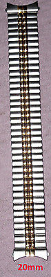 NEW SPEIDEL 20MM 2 Two Toned Gold/Silver Mens Stretch Watch Band!