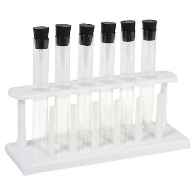 6 Categories Piece Pyrex Glass Test Tube Set with Caps and Rack
