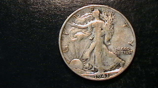 1941-S WALKING LIBERTY SILVER HALF DOLLAR COIN BEAUTIFUL  DESIGN!!  508B5b