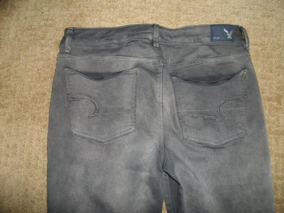 LN American Eagle Gray Jegging Jeans Size 12