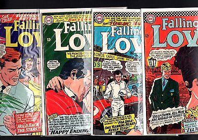 FALLING IN LOVE LOT-#'s 80, 81, 82, 83-DC ROMANCE-MONTE CARLO GRAND PRI G/VG