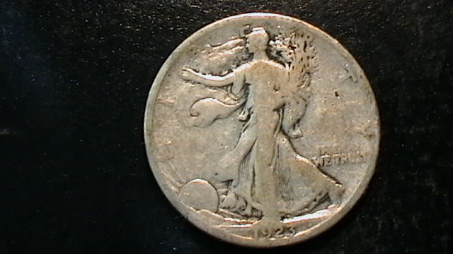 1923-S WALKING LIBERTY SILVER HALF DOLLAR COIN BEAUTIFUL  DESIGN!!  502B5b