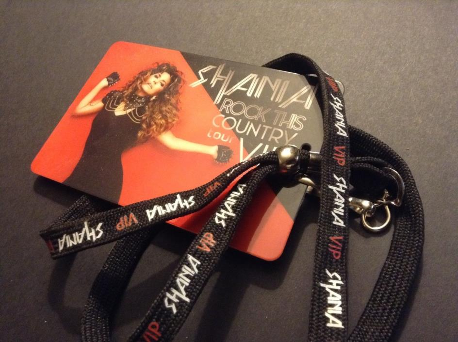 Shania Twain Rock This Country Tour Exclusive VIP Lanyard & Pass