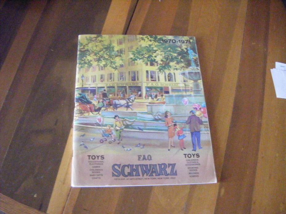 1970-71 F.A.Q SCHWARZ Toy catalog