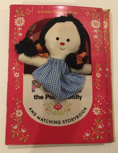 Vtg Polly the Pocket Dolly Book & Doll 1966 Golden Book Storybook Set Toy Cloth