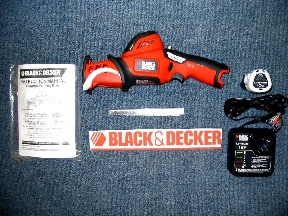 Black & Decker PSL12 12 v Volt Lithium Reciprocating Saw Battery & Charger