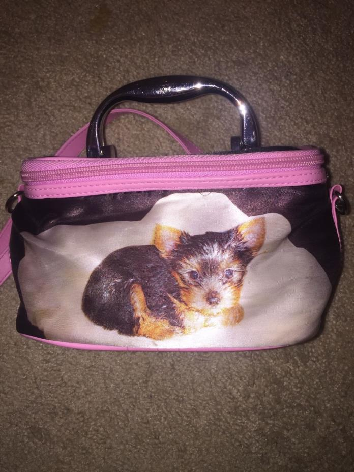 printed dog purse