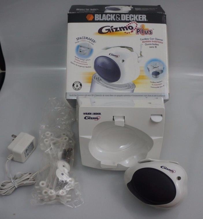 Black & Decker GC200 Gizmo White Spacemaker Cordless Can Opener