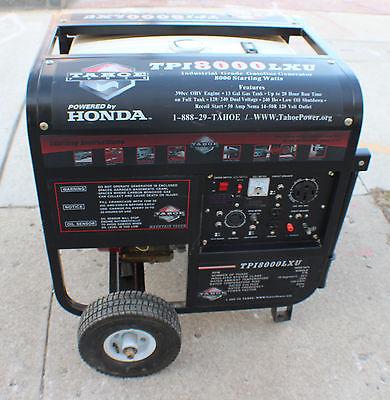 TAHOE TPI8000LXU Commercial Gas Generator Honda Engine 8,000 Watt