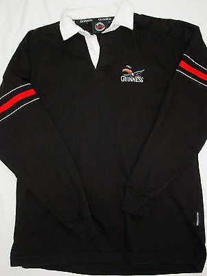 SWEET EMBROIDERED OFFICIAL GUINNESS BEER LONG SLEEVE RUGBY POLO-XL-ST. PATTY!