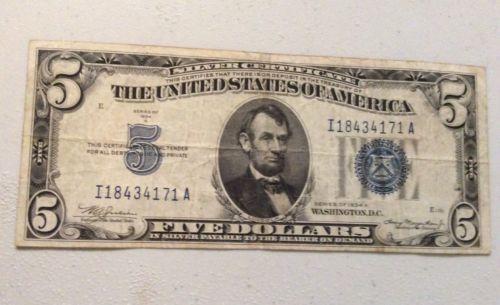 1934a 5 silver certificate