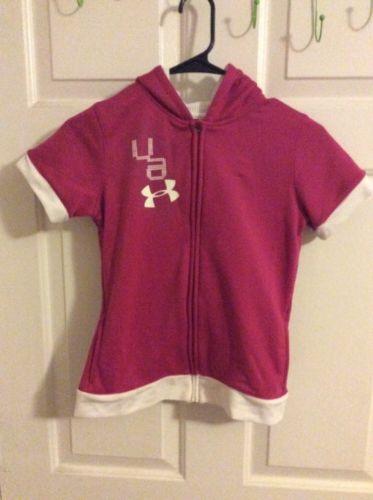Under Armour Pink UA Zip Up Hoodie Jacket Youth Medium!
