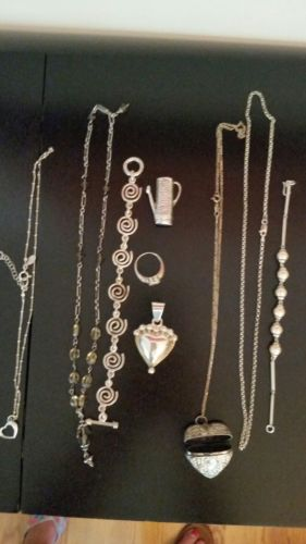 SIGNED STERLING SILVER MIXED LOT 103 GRAMS